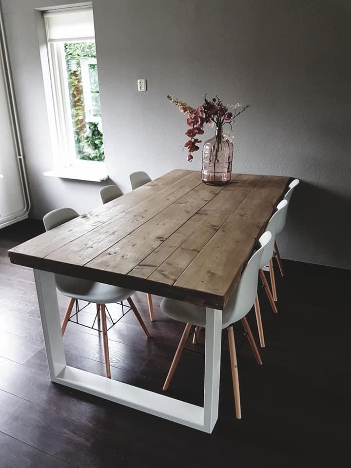 Steigerhouten Eettafel Indri